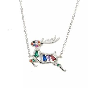 New crystal deer necklace